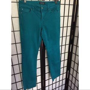White House Black Market Teal Jeans